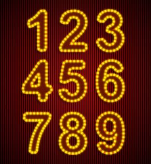 Conjunto de números retrô de vetor.