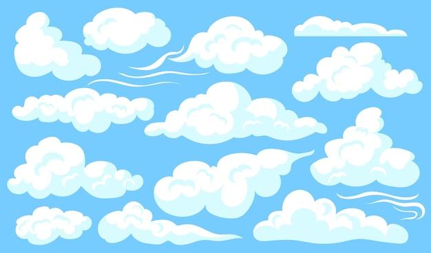 Conjunto de nuvens brancas