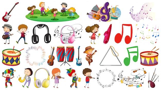 Conjunto de objeto de música