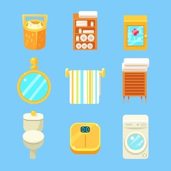 Conjunto de objetos de banheiro