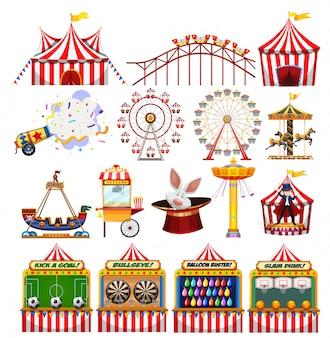 Conjunto de objetos de carnaval