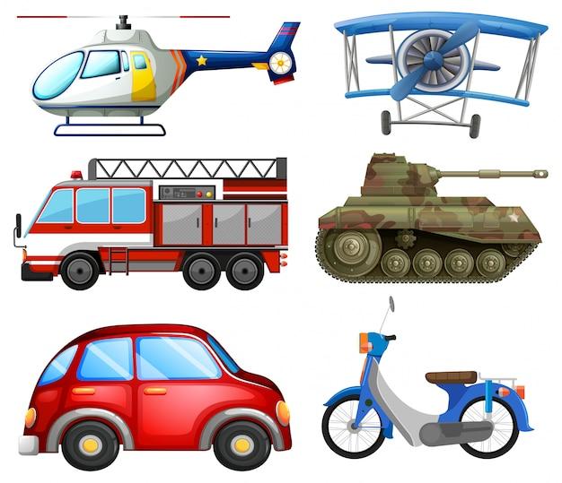 Conjunto de objetos de transporte