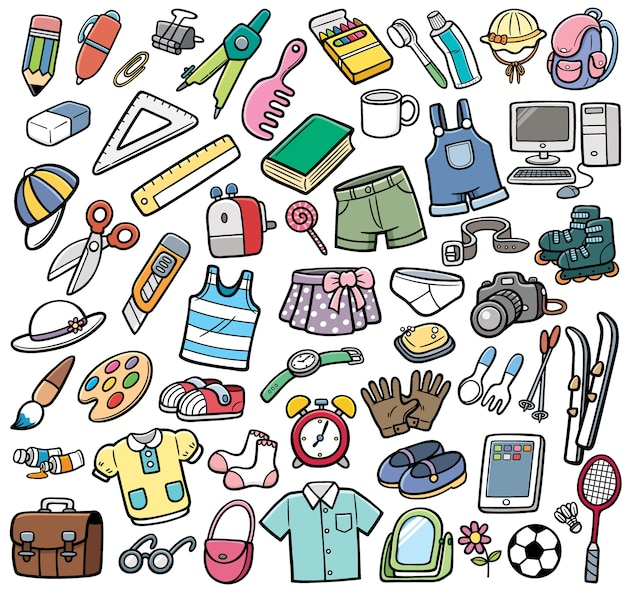 Conjunto de objetos diferentes
