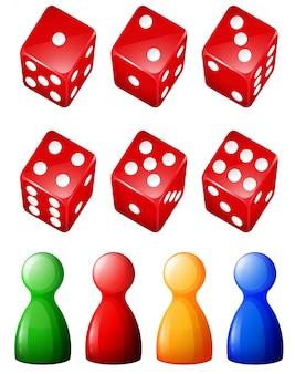 Conjunto de objetos e contadores de jogos