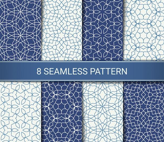 Conjunto de obras de arte abstrata padrões geométricos sem emenda