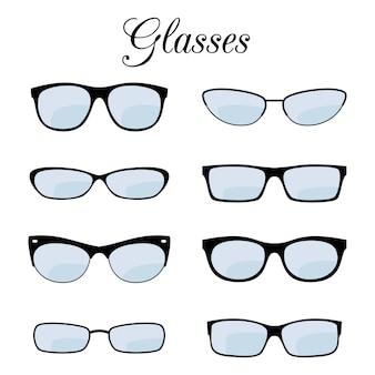 Conjunto de óculos da moda