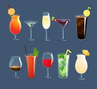 Conjunto de Óculos de Bebidas