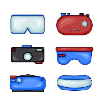 Conjunto de óculos de realidade virtual