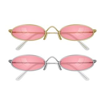 Conjunto de óculos de sol realistas