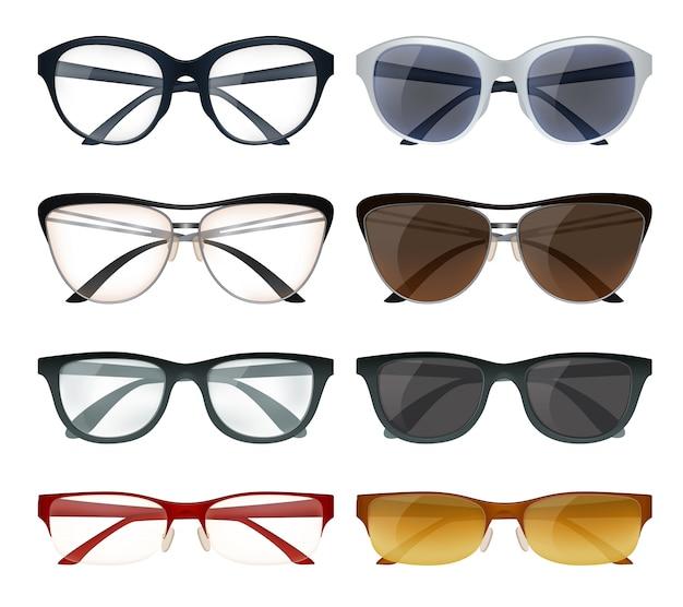 Conjunto de óculos modernos