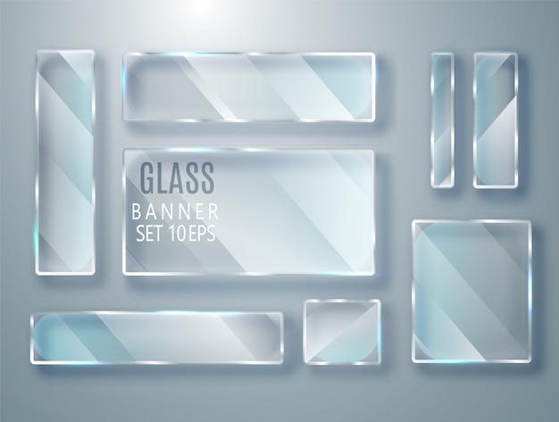 Conjunto de óculos transparentes