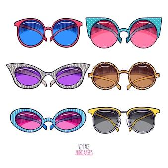 Conjunto de óculos vintage