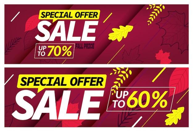 Conjunto de oferta especial de venda outono,