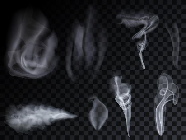Conjunto de ondas de fumaça vape