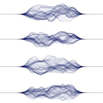 Conjunto de ondas sonoras feitas por linhas.