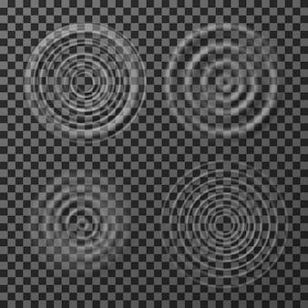 Conjunto de ondulação de água