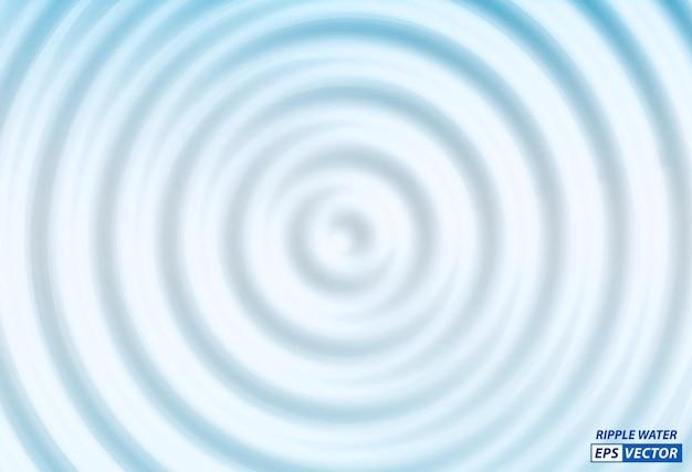 Conjunto de ondulação realista da superfície da água ou ondulação líquida de anéis na água ou respingos de água natural