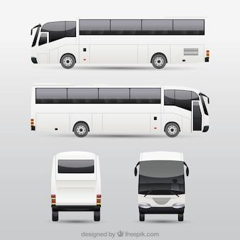 Conjunto de ônibus com diferentes perspectivas