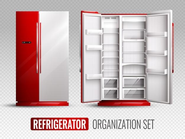 Conjunto de organização de geladeira