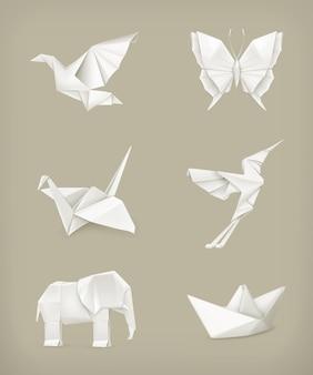 Conjunto de origami, branco