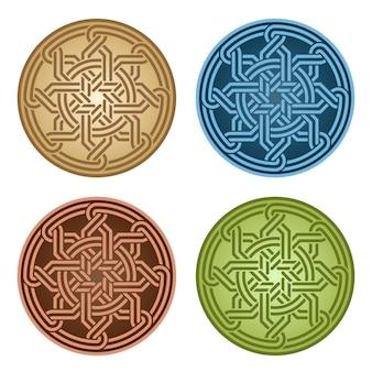 Conjunto de ornamento árabe