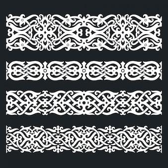 Conjunto de ornamento de dayak kalimantan dayak