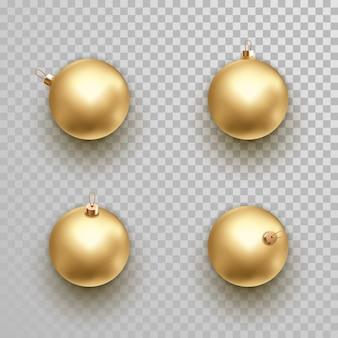 Conjunto de ornamento dourado decoração