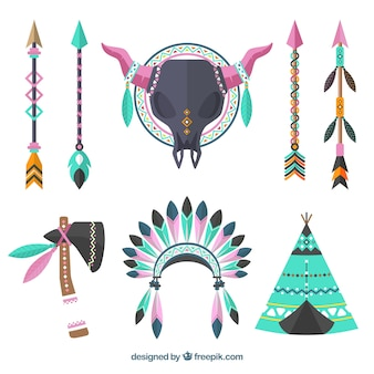 Conjunto de ornamentos boho