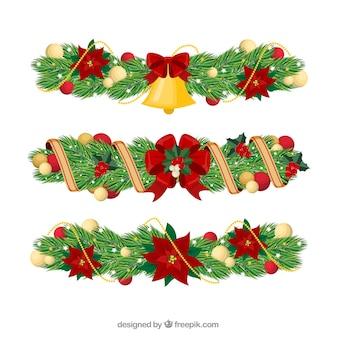 Conjunto de ornamentos de natal