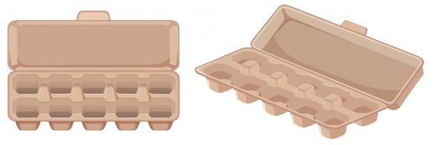 Conjunto de ovo em caixa