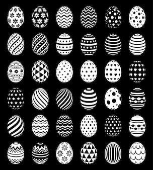 Conjunto de ovos de páscoa sem costura padrão