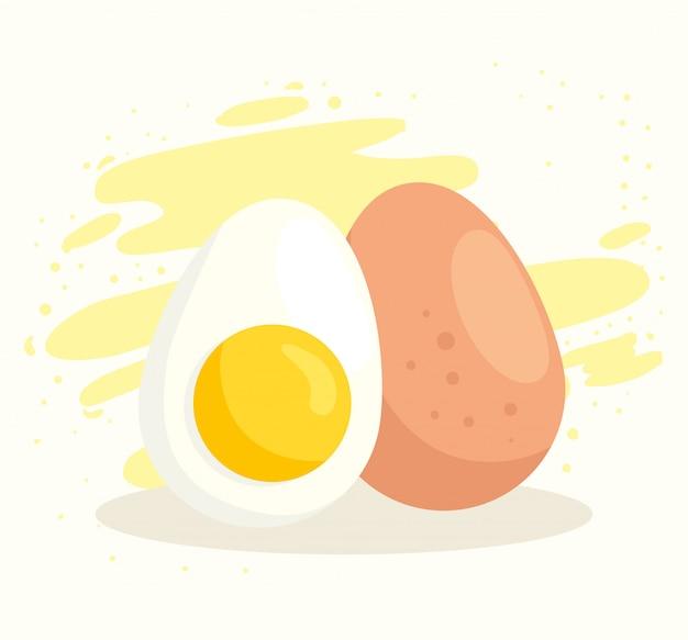 Conjunto de ovos deliciosos e saudáveis