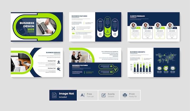 Conjunto de pacote de design de modelo de slide moderno e criativo