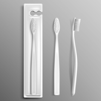 Conjunto de pacote de escova de dente