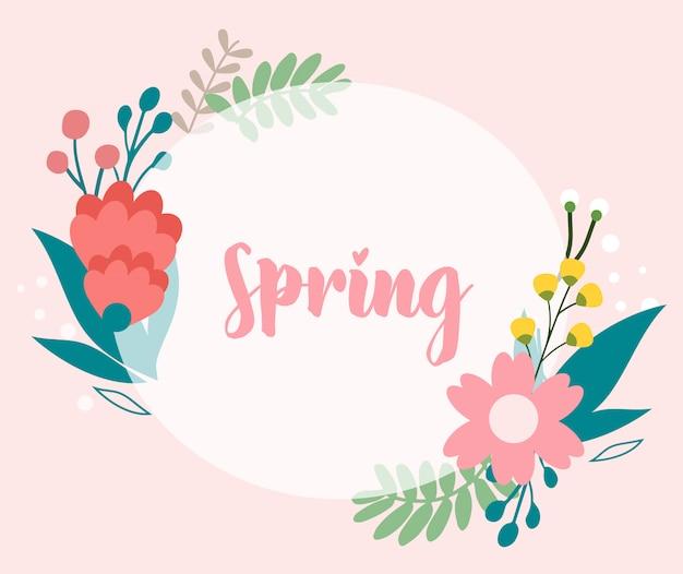 Conjunto de pacote de flor de primavera