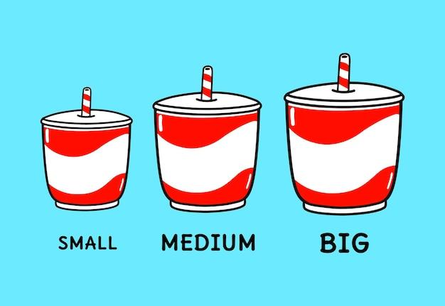 Conjunto de pacote de personagens de bebidas geladas