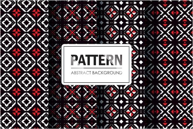 Conjunto de padrão abstrato em estilo minimalista