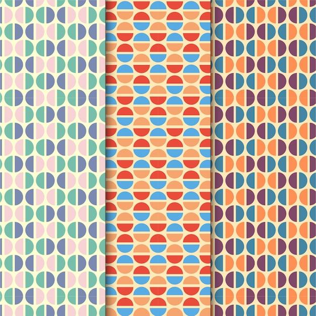 Conjunto de padrão de círculo colorido