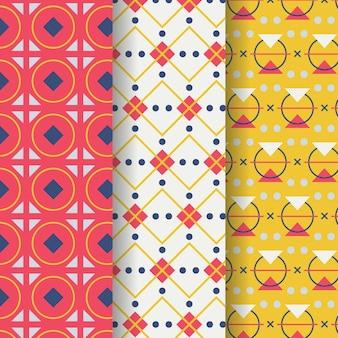 Conjunto de padrão de desenho geométrico