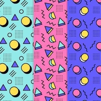 Conjunto de padrão de design de memphis