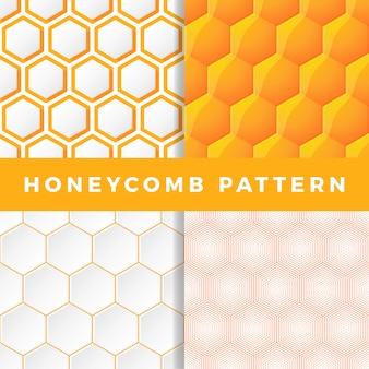 Conjunto de padrão de favo de mel.
