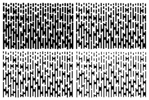 Conjunto de padrão de gradiente de linhas.