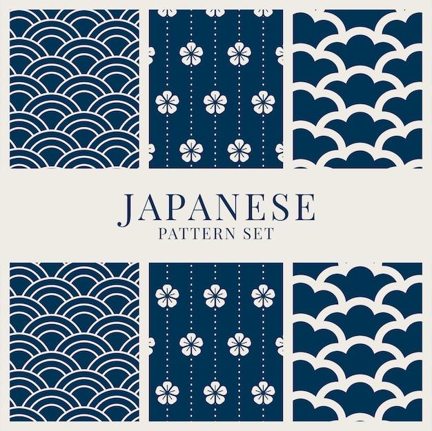 Conjunto de padrão de inspiração japonesa