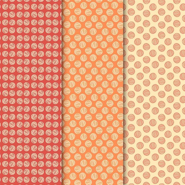 Conjunto de padrão de linha de círculo