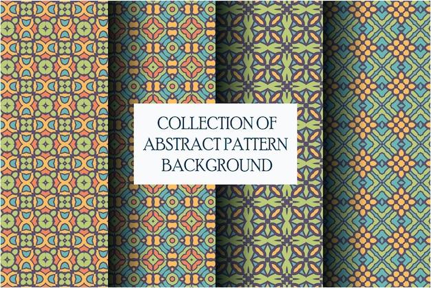 Conjunto de padrão de luxo com estilo abstrato