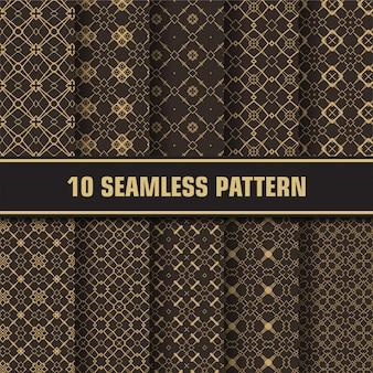 Conjunto de padrão de luxo dourado