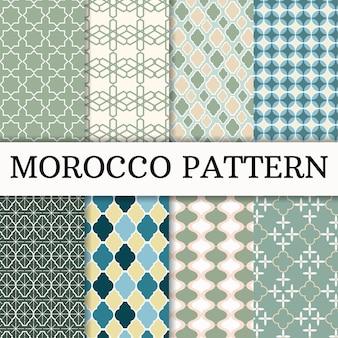 Conjunto de padrão de marrocos fundo