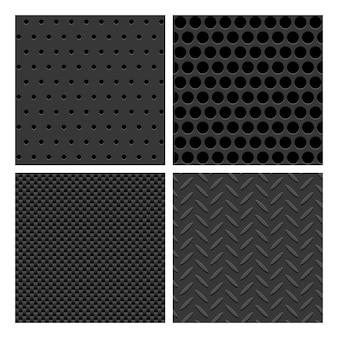 Conjunto de padrão de metal sem costura