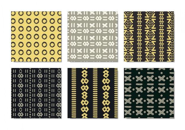 Conjunto de padrão de pano de lama