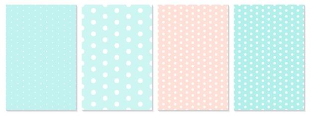 Conjunto de padrão de pontos. fundo do bebê. padrão de bolinhas.